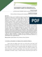 Artigo a Contribuição Da Filosofia Na Prática Pedagógica e Na Formação Da Opinião Pública Crítica No Contexto Escolar
