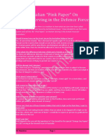 "Australian ""Pink Papers"" on Women Serving in the Armed Forces"