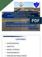 Análisis Mecanicista Pavimento Rígido Bolivia