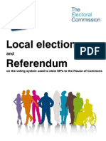 Electoral Commission Referendum 2011 UK Booklet