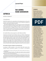South African arms supplies to sub-Saharan Africa