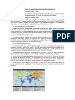 A Organização Do Espaço Geográfico Mundial No Século XX