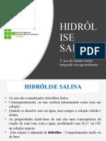 Hidólise salina