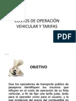COSTOS DE OPERACIÓN VEHICULAR Y TARIFAS