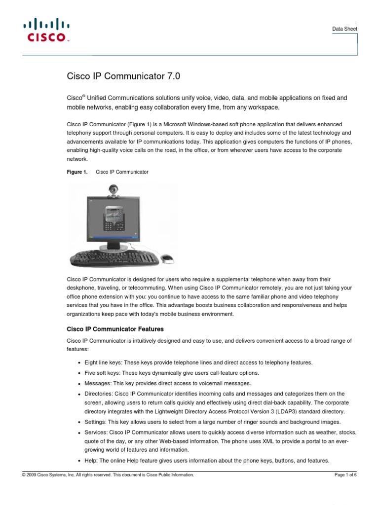 ip communicator data_sheet_c78-505261 | Cisco Systems