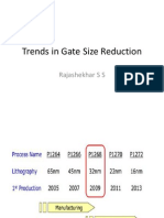 Trends in Gate size reduction