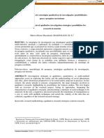 Análise comparativa de estratégias qualitativas MASSUKADO 2008