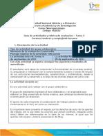 Guía de actividades y rúbrica de evaluación - Unidad 1- Tarea 2 - Corteza Cerebral y complejidad humana. (1)