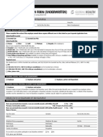 Global Health Employee Application Form (Underwritten)