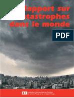 Rapport sur les catastrophes dans le monde 2010