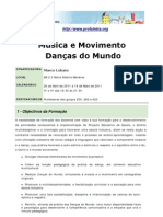 Musica e Movimento Dancas Do Mundo