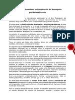 aspectos fundamentales en la evaluacion de desempeño - ENSAYO