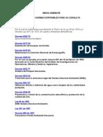 LISTADO DE NORMAS AMBIENTALES
