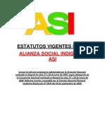 Estatutos Alianza Social Indigena