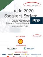 Canada 2020 Speakers Series