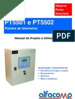 Painéis de telemetria para o saneamento PT5501 e PT5502