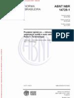 ABNT NBR 14725 2009