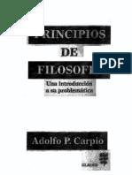 PRINCIPIO DE  FILOSOFIA  ( CARPIO )