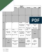 Grade 11 Schedule