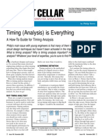 Timing (Analysis) is Everything
