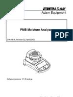 Adam PMB53 Moisture Analyzer User Manual