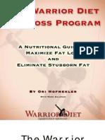 Warrior Diet Fat Loss Plan