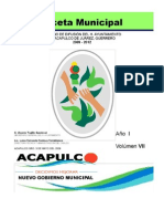 Gaceta Municipal Acapulco Año_I_Vol_VII