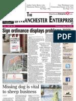 Manchester Enterprise front page, 4-14-11