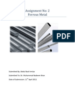 Assignment No2 Ferrous Metals