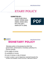 Monetary Policies Eco by Vikas