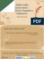 Adam Ruske Književnosti (Dan Ruskog Jezika - 6. Lipnja), 19. Lipnja 2021.