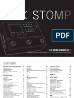 HX Stomp 3.0 Owner's Manual - Rev D - French
