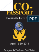 Eco Passport 2011 for Fayetteville Earth Days