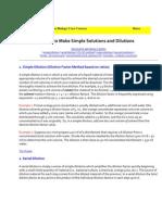 dilution factorX slution