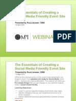 20110414_MPI WEBINAR_Creating Social Media Friendly Event Sites