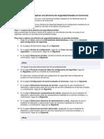 DIRECTIVA DE SEGURIDAD EN SERVER directiva de seguridad basada en funciones