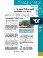 Prospects for Managed Underground Storage of Recoverable Water, Report In Brief