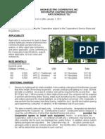 """Aiken-Electric-Coop-Inc-Decorative-Lighting-Schedule---Rate-Schedule-""""DL"""""""