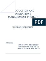 PRODUCTION AND OPERATIONS MANAGEMENT PROJECT