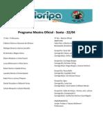Programa Mostra Oficial