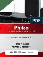 Home Theater Com 800W, HDMI, USB - PHT777 Philco