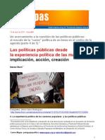 Las políticas públicas desde la experiencia política de las mayorías