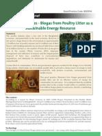 Biogas waste concern