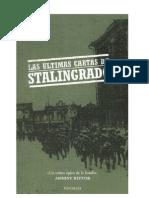 Antony Beevor Las ultimas cartas de Stalingrado