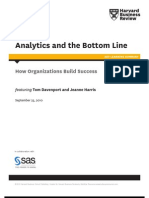 ANALYTICS AND THE BOTTOM LINE HBR