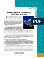 Managing Coal Combustion Residues in Mines, Report in Brief