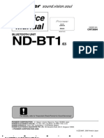 Pioneer ND-BT1_e5 Bluetooth unit service manual (crt3684)