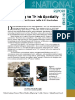 Learning to Think Spatially, Report in Brief