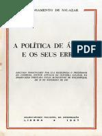 138618017 Salazar a Politica de Africa e Os Seus Erros 1967