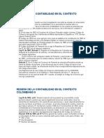 RESEÑA DE LA CONTABILIDAD EN EL CONTEXTO COLOMBIANO I